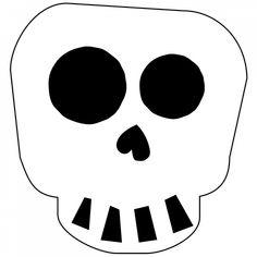 Free Printable Halloween Skull Decoration Banner | Paper Trail Design Diy Halloween Tree, Halloween Skeletons, Halloween Skull, Halloween House, Halloween Pumpkins, Printable Banner, Free Printables, Cute Skeleton, Skull Decor
