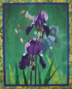 Irises Art Quilt Pattern by Lenore Crawford by LenoreCrawford