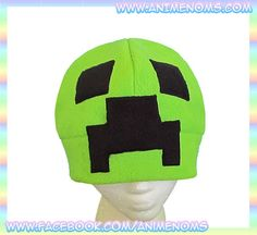Minecraft Creeper Hat : Green Black Fleece Cosplay, $16.99