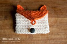 Fox Gift Card Holder/ Card Purse - A free crochet pattern | My Red Wellies