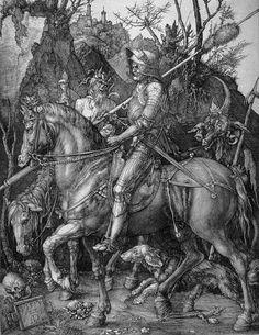 Knight, Death, and the Devil,  1513-14, Albrecht Durer