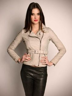 Jett Belted Leather Jacket