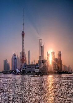 Sunrise at Lujiazui, Pudong, Shanghai TZn