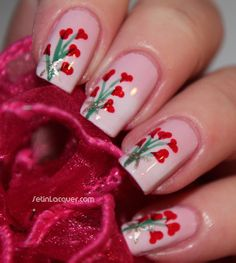 Valentine's Day nail art - bouquet of hearts http://www.setinlacquer.com/2013/02/valentines-day-mani-bouquet-of-hearts.html#