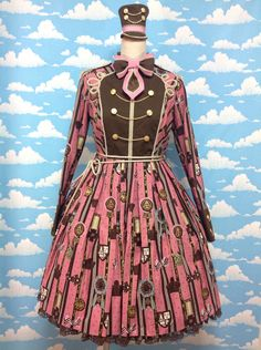Chocolate Rosette Special OP Set in Raspberry (Pink) from Angelic Pretty - Lolita Desu