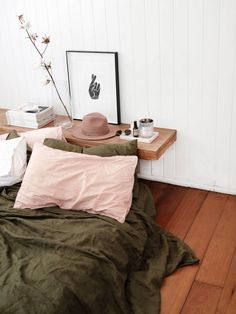 Simple design can be good design as seen here.  A minimalist design creates the feeling of a cozy artists space.