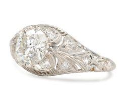Ravishing Platinum 1.05 ct. Diamond Ring - The Three Graces