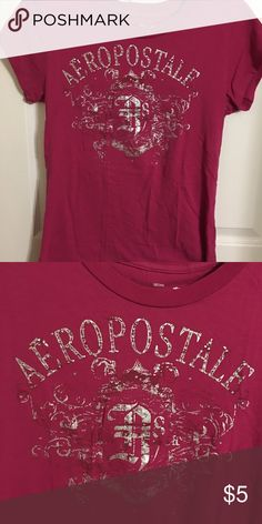 Aeropostale T-shirt Aeropostale rose color T-shirt. All my items need ironing and are in very good condition if not new with or with out tags. Aeropostale Tops Tees - Short Sleeve