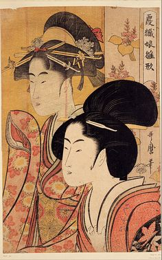 Kitagawa Utamaro - Two Beauties, ca. 1895