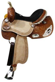 Double T Praying Cowboy Barrel Saddle