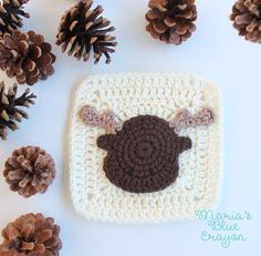 Moose Granny Square - Woodland Afghan Series