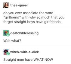 "I do the same thing with ""boyfriend"" lol. - I do the same thing with ""boyfriend"" lol. Lgbt Memes, Funny Memes, Hilarious, Look Man, Cute Gay, Tumblr Funny, In This World, Feelings, Words"