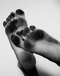 Let your feet get dirty! This is how black my feet look by the end of the first week of college, that's how much I walk around barefoot.