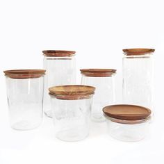 Endlessly versatile, Weck Jars have become an essential for any home kitchen. These wooden lids have a flat top and are self sealing, making them perfect for st