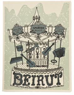 Beirut Band Poster by Christie Little, via Behance