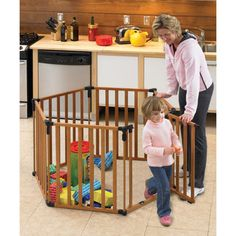 @Overstock - Keep your little ones safe as they play in this wooden North States superyard. Its extra-tall height and lockable gate offers unlimited protection and it can even be assembled as a barrier to protect your child from a fireplace or staircase.http://www.overstock.com/Baby/North-States-3-in-1-Wood-Superyard/4674933/product.html?CID=214117 $184.99