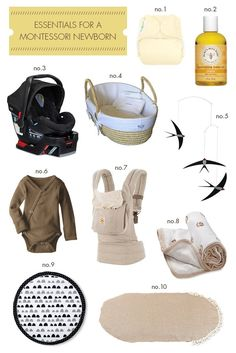 Essentials for a Montessori Newborn 26 Weeks Pregnant, Montessori Infant, Newborn Essentials, My Shopping List, Baby Massage, 2nd Baby, Three Kids, Cloth Diapers, New Baby Products