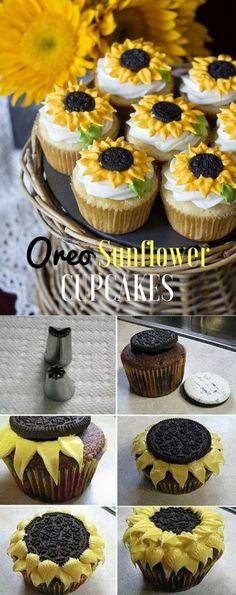 Get the Recipe ♥ Oreo Sunflower Cookies #recipes