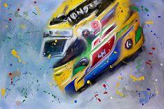 World Champion Formula One driver #LewisHamilton #F1 Driver Crash Helmet. Digital Oil Painting.