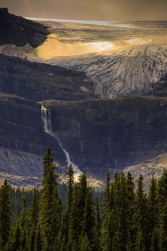 Bow Glacier waterfall (by jimraley) in Banff National Park