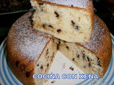 COCINA CON XENA: Bizcocho de yogur griego con perlas de chocolate