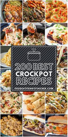 200 Best Crockpot Recipes - - Make weeknight dinners a breeze with these comforting crock pot recipes. From tender meats to hearty soups, there are plenty of recipes to choose from. Best Crockpot Recipes, Crockpot Dishes, Crock Pot Slow Cooker, Crock Pot Cooking, Slow Cooker Recipes, Healthy Recipes, Crockpot Freezer Meals, Thai Cooking, Healthy Slow Cooker