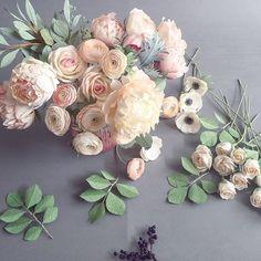 Paper flower bouquet inspiration