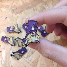 Les badges Pokémon x Simpson : Bartman et Cubone