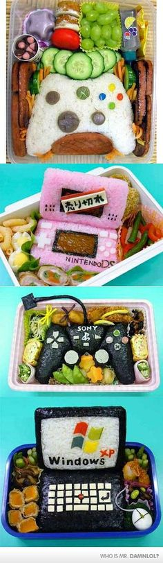 Nintendo in food! I wouldn't know whether to eat it or just drool over it