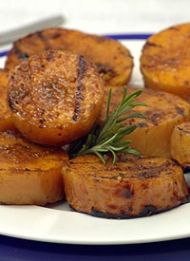 I might try this in the griddle pan instead of the braai....Veggies on the braai are fantasic, so try this recipe for Braaied Butternut with Masala Spice