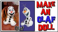 How To Make an Olaf Doll - Loom Knitting