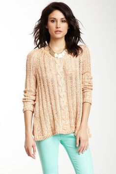 Romeo & Juliet Couture Cable Knit Sweater by Romeo & Juliet Couture on @HauteLook
