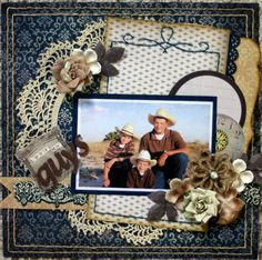 A Project by jennaroo from our Scrapbooking Gallery originally submitted at PM Heritage Scrapbook Pages, Vintage Scrapbook, Scrapbook Albums, Scrapbook Cards, Scrapbook Layout Sketches, Scrapbooking Layouts, Shabby, Creative Memories, Diy