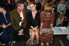 Luke Evans, Stella McCartney and Anna Wintour attend the Hunter Original Spring/Summer 2016 Collection during London Fashion Week at Euston Station Parcel Deck on September 19, 2015 in London, England.