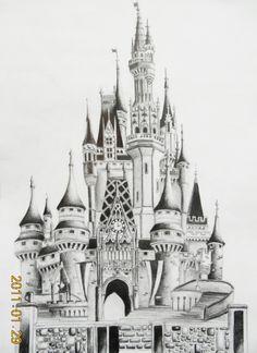Disneyland Castle by ~miki-squeak on deviantART