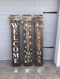Front Porch Signs Welcome Christmas Large Burlap Rustic Snowflakes Winter Garden, FL (christmas porch decorations apartment) Primitive Christmas, Christmas Wooden Signs, Christmas Wood Crafts, Christmas Porch, Outdoor Christmas, Rustic Christmas, Christmas Projects, Winter Wood Crafts, Christmas Garden