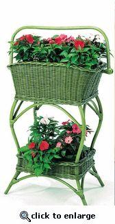 New Green Wicker Victorian Flower Stand Outdoor Chairs, Outdoor Furniture, Outdoor Decor, Victorian Life, Victorian Flowers, Flower Stands, New Green, Yard Sale, Container Gardening