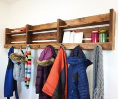 Ana White | Build a Ryobi Nation 8-Foot Long Pallet Inspired Coat Rack | Free and Easy DIY Project and Furniture Plans