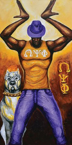 A fraternity brother from Omega Psi Phi.