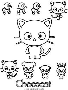 chococat color page