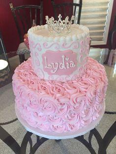 Baby Shower Cake For Girls, Torta Baby Shower, Girl Baby Shower Decorations, Baby Shower Princess, Sweet 16 Birthday Cake, Birthday Cake Girls, Cupcake Cakes, Cupcakes, Girl Cakes