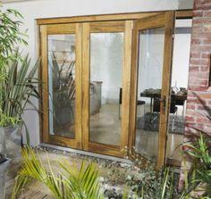 B&Q Wellington Hardwood Sliding Folding Patio Doorset - Brickwork Opening (H)2105 x (W)2105mm, BQWELL21HU