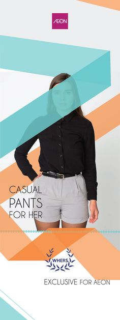 """Design X-Benner WHERS """"casual pants for her"""""""