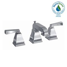 American Standard 2555.801.002 Town Square Polished Chrome Two Handle Widespread Bathroom Faucets  | eFaucets.com