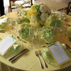 wedding flowers  white green yellow