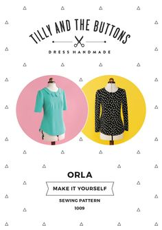 Tilly and the Buttons Orla Shift Top Sewing Pattern 1009