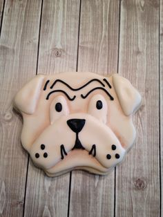 Bulldog cookie.