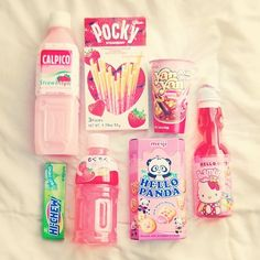 Japanese snacks, they're pocky sticks look like mikado which you can get in the uk unlike pocky sticks!