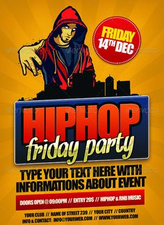 Hip Hop Friday Flyer Template