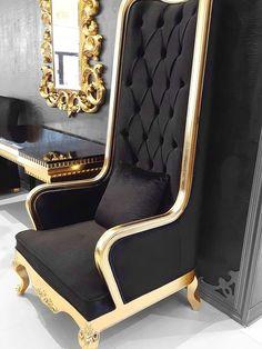 Royal Furniture, Victorian Furniture, Luxury Furniture, Home Furniture, Furniture Design, Elegant Living Room, Elegant Home Decor, King Chair, Throne Chair